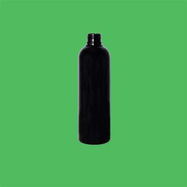 Bottle 250ml Tall Boston PET Black 24mm