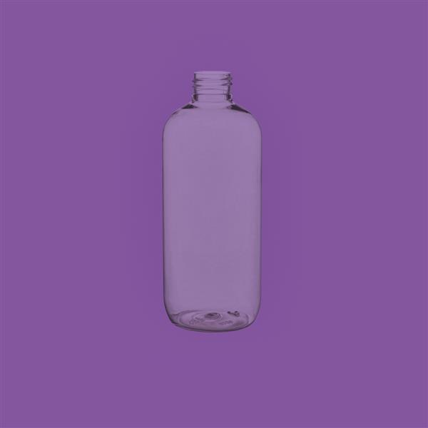 Bottle 300ml Boston Round PET Clear 24mm