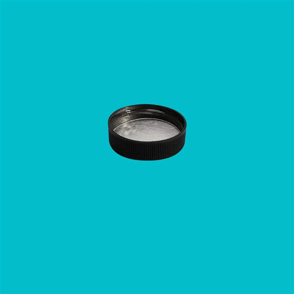 Cap 38mm 400 Induction Heat Seal (For PET) Black
