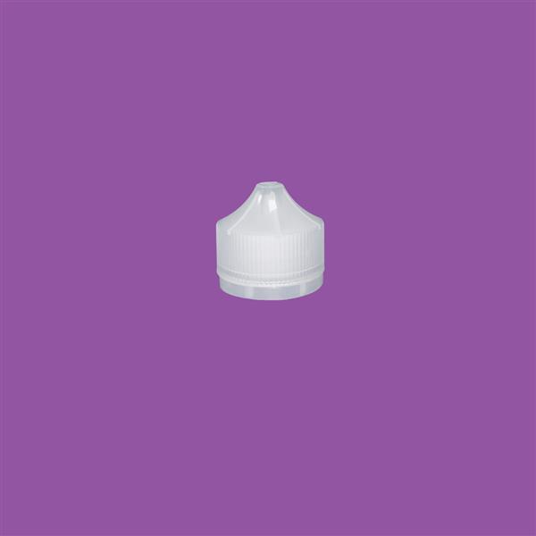 Cap 34mm Two Part Tamper Evident Child Resistant Snap On Pointed Cap Natural (Husky Bottle)