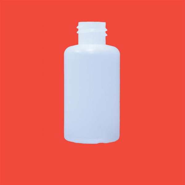 Bottle 50ml Flat Shoulder HDPE Natural 20mm