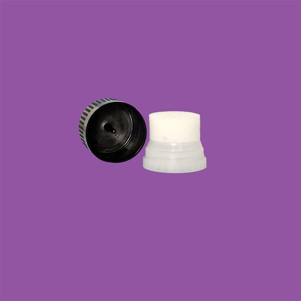 Sponge Applicator 30mm Black Cap (White Sponge)