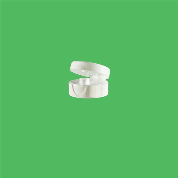 Cap 31mm 400 Ribbed Flip Top Induction Heat Seal (For HDPE) White