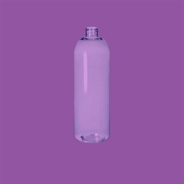 Bottle 750ml Tall Boston Round PET Clear 28mm