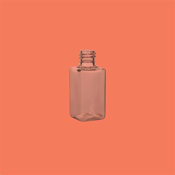 Bottle 12ml Square PET Clear 13mm