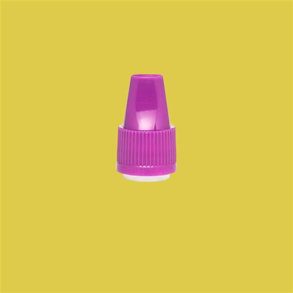 Cap 12mm Two Part Bericap Child Resistant Tamper Evident Purple