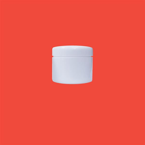 Jar 50ml Double Wall Polypropylene White