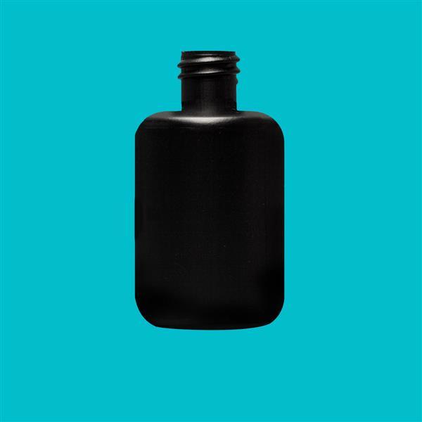 Bottle 30ml Oval HDPE Black 18mm