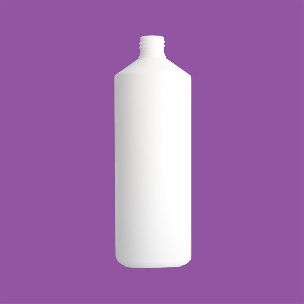 Bottle 1000ml Fluorinated Swipe HDPE White 28mm 90G