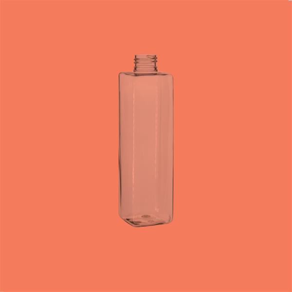 Bottle 250ml Square PET Clear 24mm