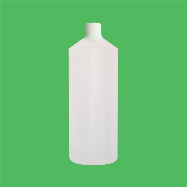 Bottle 1000ml Fluorinated Swipe HDPE Natural 28mm