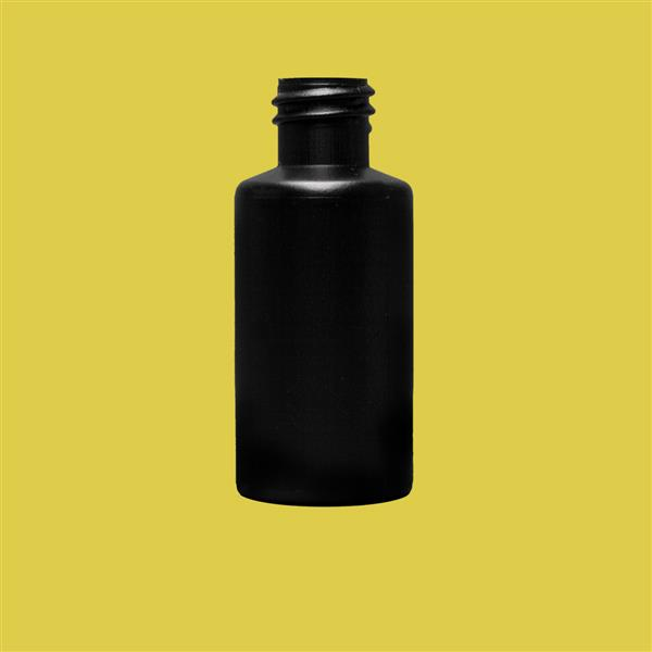 Bottle 30ml Cylinder HDPE Black 18mm