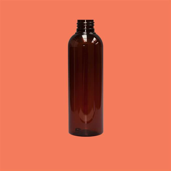 Bottle 200ml Tall PET Amber 24mm