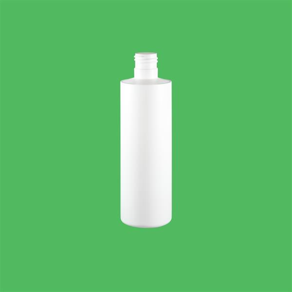 Bottle 250ml Tubular HDPE White 24mm 415