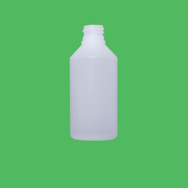 Bottle 100ml Fluorinated Swipe HDPE Natural 20mm