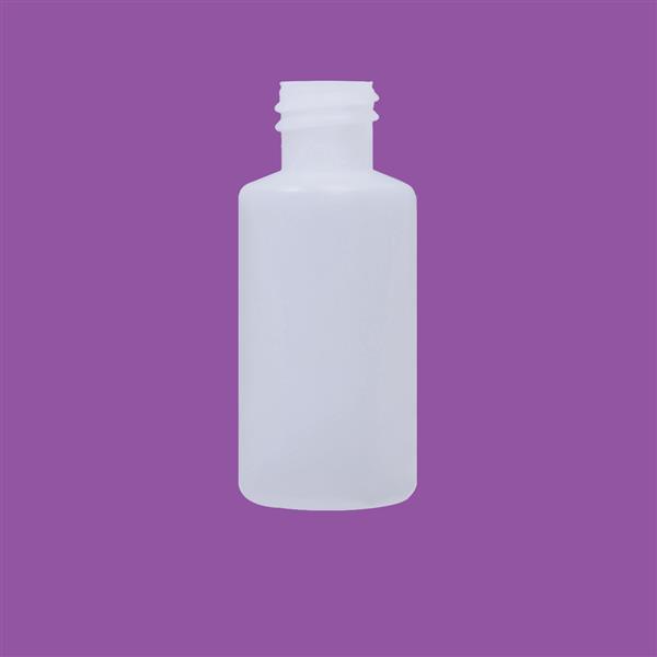 Bottle 30ml Cylinder HDPE Natural 18mm